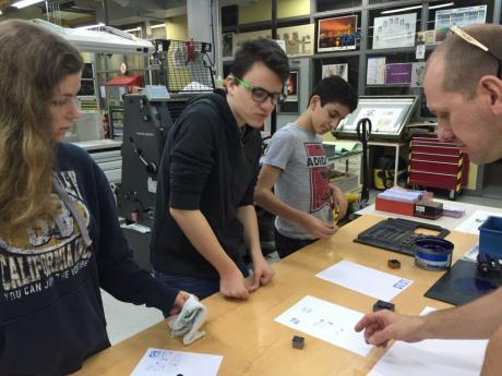 Découverte des métiers en 3ème ateliers professionnels Industries graphiques