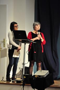 Emma Gavlovsky, psychologue, et Michèle Manière, pédiatre, CAMSP Espoir 93.