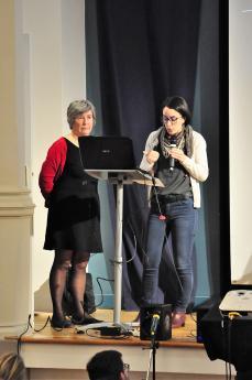 Michèle Manière, pédiatre, et Emma Gavlovsky, psychologue, CAMSP Espoir 93.