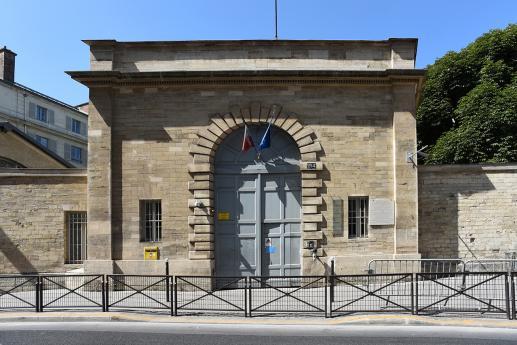 Le portail de l'INJS côté rue