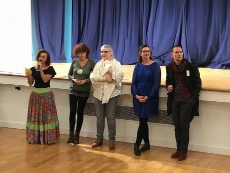 Ivani Fuselier, Brigitte Garcia, Véronique Geffroy, Marie-Anne Salandre et Frédéric Brossier